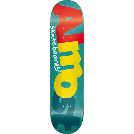 Skateboard Seven-ply maple held together with Stiff Glue makes the Almost Pop Art Skate Deck poppy and strong, and the pop art-influenced Almost graphic gives it a classic look. - $37.95
