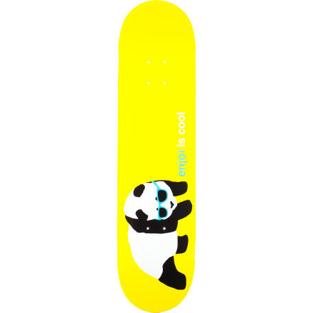 Entertainment It's hard to decide whether a panda in sunglasses looks cool or simply adorable. Either way, the Enjoi Cool Skate Deck has the pop and durability you want, and that's all that matters. - $49.95