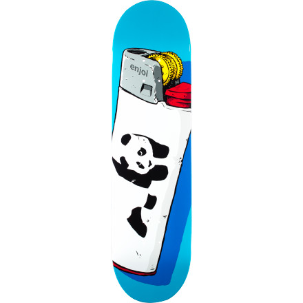 Skateboard Light up ledges and smoke stair sets on the Enjoi Light Skate Deck. - $49.95