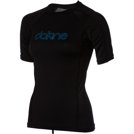 Surf Instead of suffering from chattering teeth and blue lips, slip on the DAKINE Women's Neo Insulator Short-Sleeve Rashguard and savor a killer day of surf. Its 1mm of Silver Skin neoprene fabric combats cool winds and water, while the Neo's UPF 50-rated fabric shields you from the sun's wicked rays. - $49.95