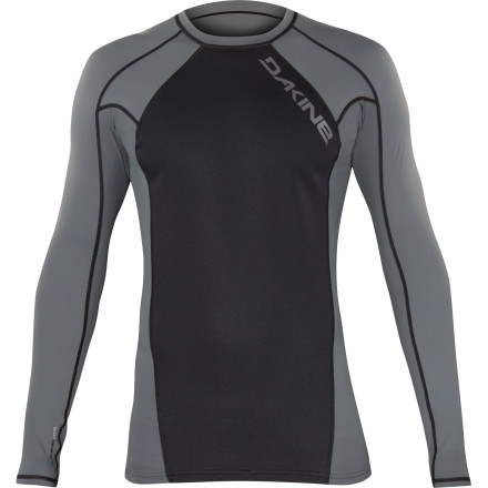 Surf It's that temperature where a regular rashguard isn't warm enough, but your shorty is too hot, so do you suffer through the cold, or do you swelter in your spring suit The answer is neither, thanks to the Dakine Storm Neo-Insulator Men's Long-Sleeve Rashguard. It has a thin neoprene fabric to retain just enough core heat to keep you warm without stifling you. - $59.95