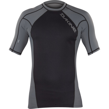 Surf That sun may be hot, but the water is still pretty cool. Kill two birds with one stone with the Dakine Storm Neo-Insulator Men's Short-Sleeve Rashguard. The Silver Skin neoprene helps retain body heat so you stay warm and comfy, and it's 50+ UPF-rated to protect your skin from getting roasted. - $49.95