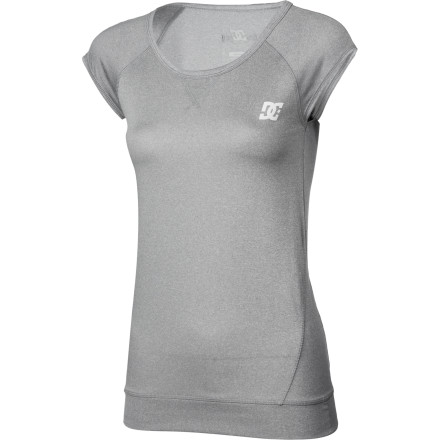 Fitness It's time to hit the gym in the DC Fit Women's Sleeveless Shirt and get ready for beach season. The polyester fabric pulls sweat away from your skin when you're in the middle of an intense workout, and it dries rapidly so you don't stay drenched after you leave spin class. - $34.00