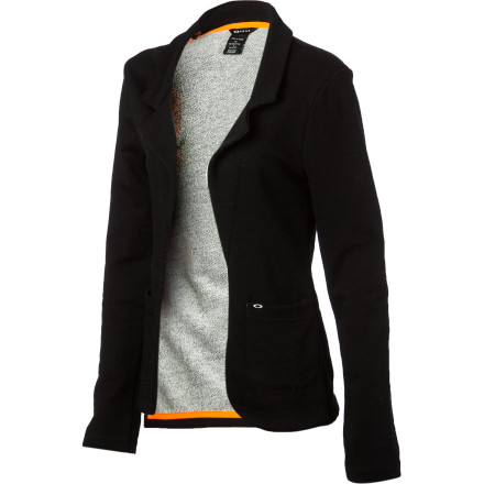 You'll make certain concessions to convention, but you insist on remaining comfortable at all times, so you pull on the Oakley Women's Tomboy Fleece Jacket when you need to buff up your look. Sporting a classic look but offering high-tech performance, this highly versatile blazer goes from the office to the party or the first tee to the 19th hole without missing a beat. - $48.00