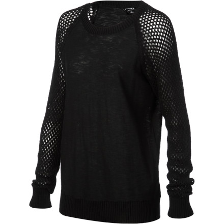 Entertainment There's no need to fish for compliments when you're wearing the Oakley Women's Cast A Net Sweater, they'll just flow naturally. This relaxed but deceptively sexy sweater features peek-a-boo open-weave sleeves that snare passers-by with their charms. - $58.00