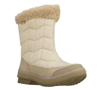 Stay warm; stylish and comfortable in the SKECHERS Highlanders - Alpine Valley boot.  Ripstop nylon fabric and shiny patent synthetic in a mid calf height back zip cold weather casual boot with stitching accents.  Waterproof and insulated design. - $85.00