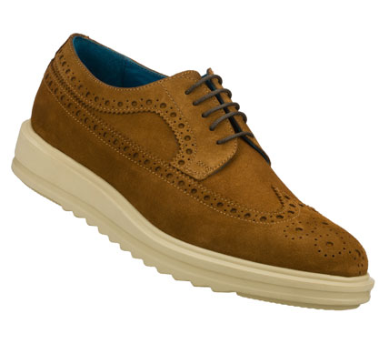 Entertainment Pure class combines with added comfort in the Mark Nason SKECHERS Cresent shoe.  Soft suede upper in a lace up dress casual wing tip oxford with stitching; overlay and perforation accents. - $79.00