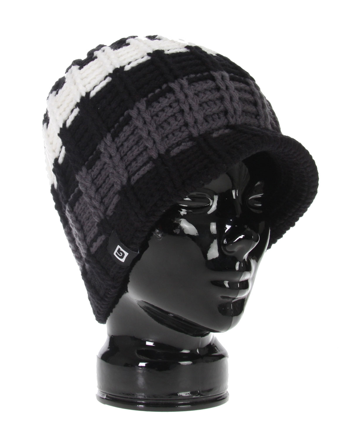 Snowboard The Burton Sabbatical Beanie - 100% Acrylic / Striped Visor Beanie / Hand Knit / Skully Fit - $16.77