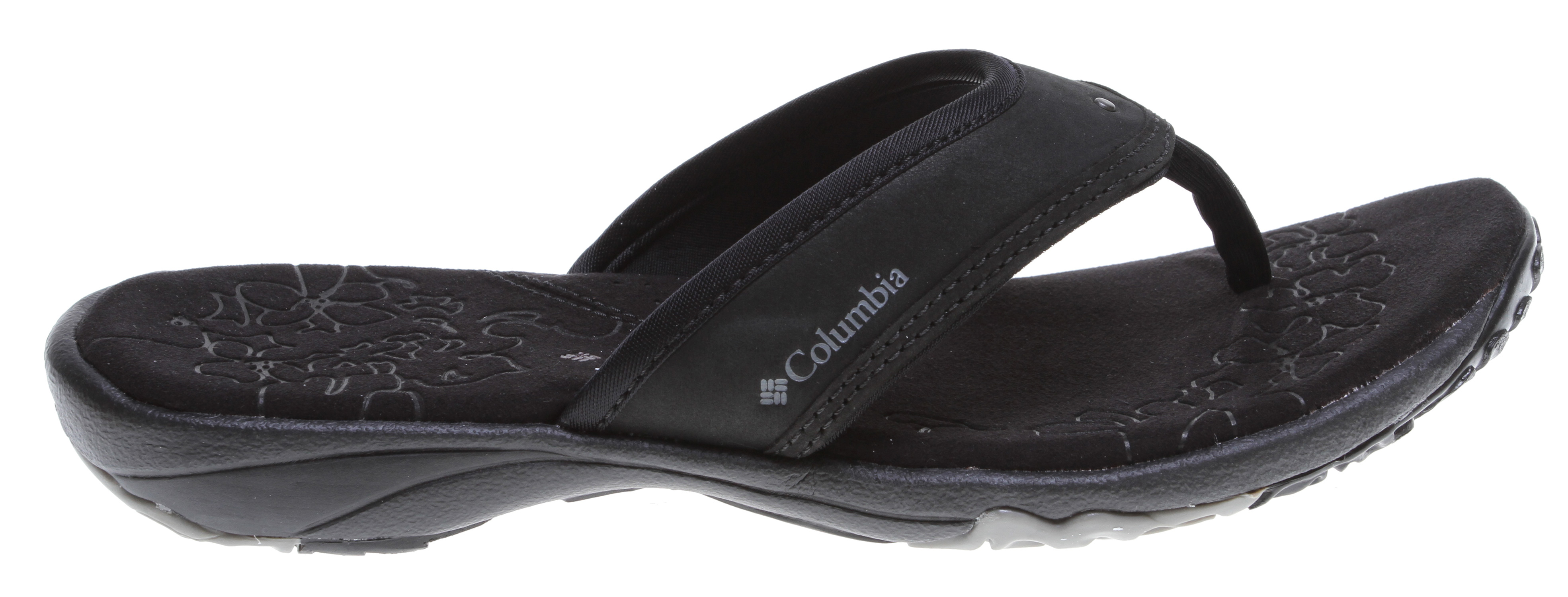 Surf This amazingly soft footbed features contoured EVA topped with latex foam and synthetic suede to provide a pillowy home for hard-working feet; the wide strap, non-marking rubber sole and Techlite molded midsole ensure that feet stay cozy and supported during active days in warm weather. Key Features of the Columbia Kambi Sandals: Techlite midsole lightweight cushioning and comfort Non-marking Omni-Grip high traction rubber for traction and durability Techlite molded material for lightweight cushioning and comfort Combination of breathable stretch lycra and nubuck Contoured EVA with latex foam, synthetic suede and leather overlays with anti-odor treatment Waterproof materials and construction method Weight: size 7, 1/2 pair = 5.8 oz/164.4 g Imported UPPER Lycra, nubuck FOOTBED EVA latex foam, synthetic suede and leather MIDSOLE Techlite technology OMNI-GRIP OUTSOLE High traction rubber - $32.95