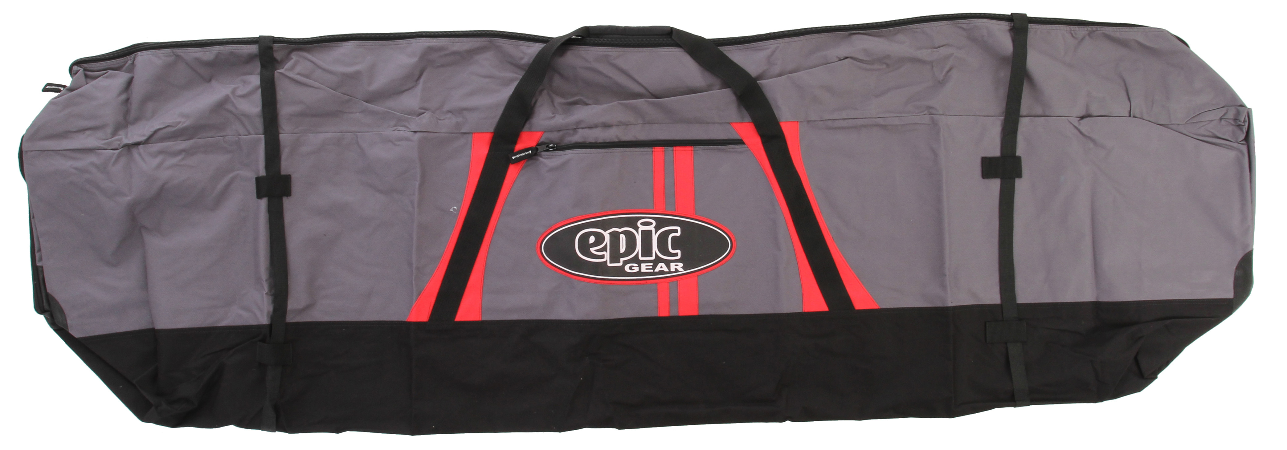 Wake This bag adjusts from 230cm to 260cm to hold any quiver of sails. Cinch straps help hold everything in place and eliminate roof rack flapping. Plastic zipper will not corrode - $105.00