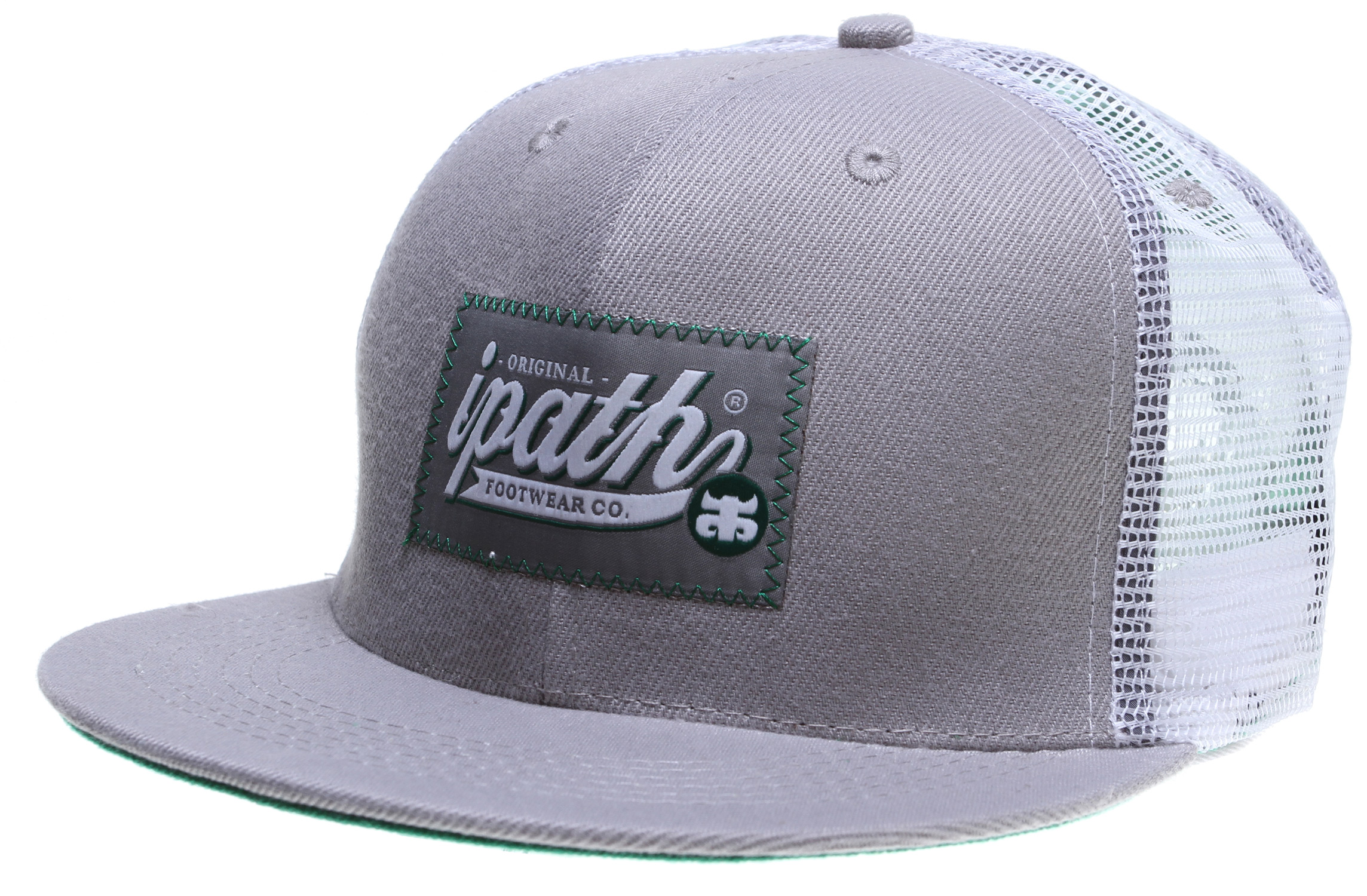 100% Poly/Mesh Blended Trucker Hat With Snap Back and Full Front Classic Patch. - $12.95
