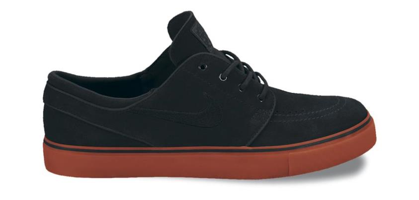 Skateboard A slick new Stefan Janoski in Black and Terra Cotta for October 2012