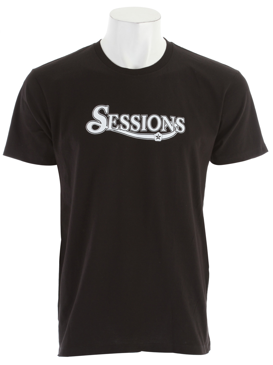 Key Features of the Sessions Triumph T-Shirt: Regular Fit Crew Neck Short Sleeve Screen Printed Fitted Short Sleeve Crew 55% Cotton/45% Polyester - $21.95