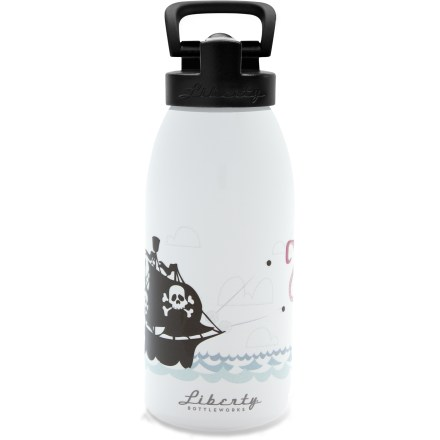 Camp and Hike The Liberty Bottleworks Kraken Aluminum water bottle with Sport Top features a spill-resistant design and fun graphics to keep you and your kids happy. - $13.93