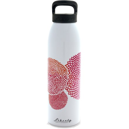 Camp and Hike Quench your thirst with a sip of cool water from the Liberty Bottleworks Dahlia Aluminum water bottle with Sport Top. - $23.00
