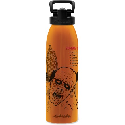 Camp and Hike Staying hydrated is key to surviving a zombie invasion. Quench your thirst with a sip of cool water from the Liberty Bottleworks Run Aluminum water bottle with Sport Top. - $15.93