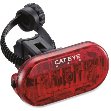 Fitness Bright, easy to use and economical, the CatEye Omni 3 rear bike light enhances your visibility to oncomers when you're out for a ride. - $6.93
