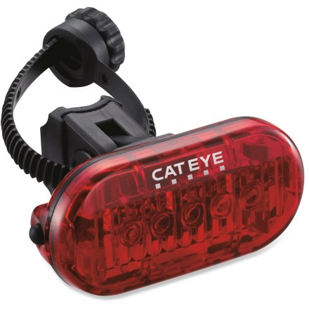 Fitness Enhance your visibility with the CatEye Omni 5 rear bike light, which boasts 5 bright LEDs and easy mounting to your bike or clothing for commuting, training or riding for fun. - $11.93