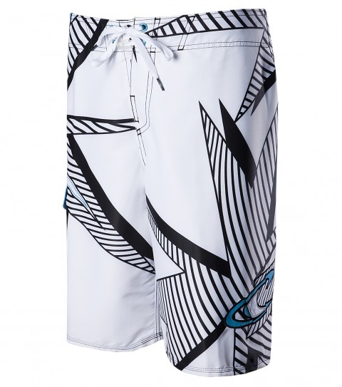 Surf O'Neill Razor Boardshorts.  Techstretch.  22'' outseam features engineered printed boardshort with superfly 2.0 closure;  drawcord stabilizer; side cargo pocket; embroidered; appliqued and screened logos. - $26.99