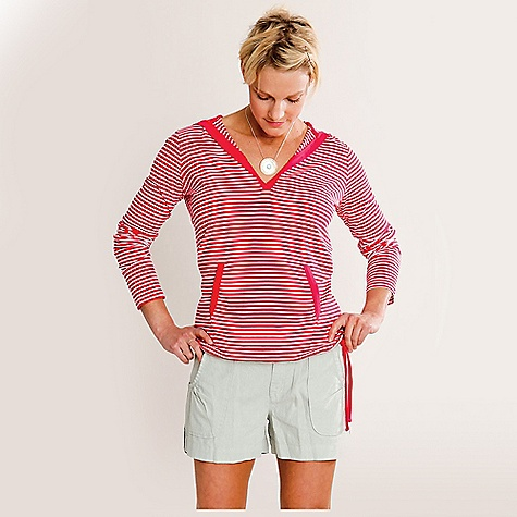 Free Shipping. Carve Designs Women's Paris Hoodie DECENT FEATURES of the Carve Designs Women's Paris Hoodie Classic stripes in the form of a hoodie V-neck Adjustable tie at hem Loosely fitted with long torso Jersey knit Machine wash - $59.95