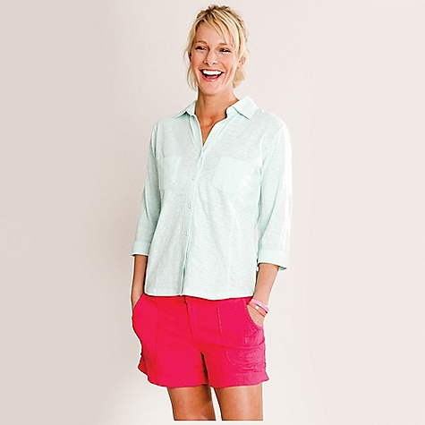 On Sale. Free Shipping. Carve Designs Women's Bryn Button Down Shirt DECENT FEATURES of the Carve Designs Women's Straw Visor 3/4 sleeve top Two chest pockets Adjustable roll-tab sleeves Front and back princess seams add a feminine touch The SPECS Semi-fitted Organic cotton Machine wash - $44.76