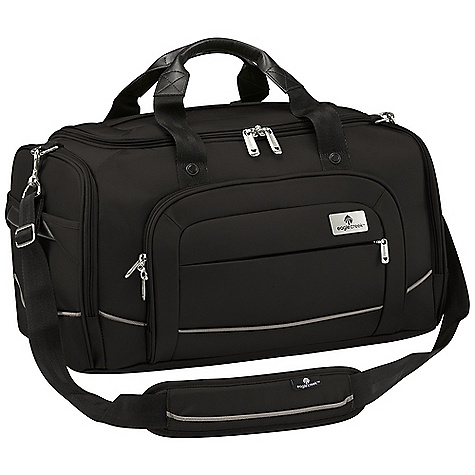 Entertainment Free Shipping. Eagle Creek Ease In-Flight Bag DECENT FEATURES of the Eagle Creek Ease In-Flight Bag Multiple carry options: padded, adjustable, removable shoulder strap and tote handles U-shaped opening with two-way lockable zippers for easy access to interior Two-way lockable zippered front compartment with organizational panel Interior zippered pocket Exterior zippered end pocket for additional organization Zippered end access baffled compartment provides storage for last-minute or bulky items Back slip panel for stacking on wheeled luggage Slip-away luggage tag with contrast accent for easy ID The SPECS Capacity: 2624 cubic inches / 43 liter Weight: 2 lbs 11 oz / 1.2 kg Dimension: 18in. x 10in. x 11in. / 46 x 25 x 28 cm Material: 1260D Helix Ballistic - $144.95
