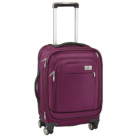Entertainment Free Shipping. Eagle Creek Ease 4 Wheel 22 Upright Rolling Luggage DECENT FEATURES of the Eagle Creek Ease 4 Wheel 22 Upright Rolling Luggage Four multi-directional wheels offer effortless mobility Interior vertical compression wings Large full-access front zippered compartment with zippered pocket offers additional organization Sleek, comfortable and ergonomic top and side handles Expandable main compartment adds 15% more packing space Two-way lockable zippers on main compartments Coat Keeper securely holds coat on luggage and conveniently stows away in front zippered pocket Attached piggyback clip offers add-a-bag versatility Multiple interior zippered mesh pockets for packing organization Durable wheel and handle system for smooth ride Rugged skid plate and corner bumpers protect bag against urban obstacles TSA friendly lock included Slip-away luggage tag with contrast accent for easy ID Integrates with the Pack-It System, suggestions included The SPECS Capacity: 2320 cubic inches / 38 liter, Expanded: 2505 cubic inches / 41 liter Weight: 8 lbs 8 oz / 3.86 kg Dimension: 14in. x 22in. x 9in. / 35.5 x 56 x 22 cm, Expanded: 14in. x 22in. x 11in. / 35.5 x 56 x 28 cm Material: 1260D Helix Ballistic - $339.95