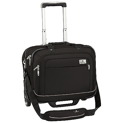 Entertainment Free Shipping. Eagle Creek Ease Wheeled Expandable Briefcase DECENT FEATURES of the Eagle Creek Ease Wheeled Expandable Briefcase Four section design provides computer, organization, file and cord management Internal padded sleeve sized for most 17in. laptops Two-way lockable zippers on main compartments Multiple carry options: Removable shoulder strap, tote handles and five-stage retractable handle that zips away Front zippered pocket to organize electronics and personal items Expandable middle compartment for extra packing space Handle compartment has pocketed organization for cord management Elasticized back slip panel for securely stacking on wheeled luggage Durable wheel and handle system for smooth ride Rugged skid plate and corner bumpers protect bag against urban obstacles The SPECS Capacity: 1220 cubic inches / 20 liter Weight: 7 lbs 14 oz / 3.55 kg Dimension: 17in. x 14in. x 8.5in. / 43 x 35 x 21.5 cm Material: 1260D Helix Ballistic - $294.95