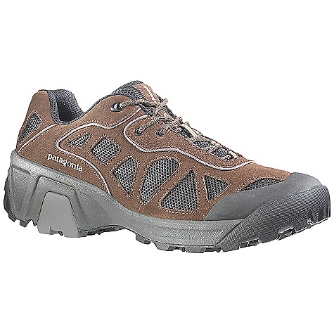 Camp and Hike Free Shipping. Patagonia Men's P26 A-C Shoe DECENT FEATURES of the Patagonia Men's P26 A/C Shoe Breathable air mesh and leather nubuck uppers for durability and comfort 100% polyester mesh lining and collar for fast drying and breathability 15% recycled EVA dual density foot bed provides comfort; supports and stabilizes the foot Patagonia Air Cushion Plus for shock absorption; TPU Arch Shank for support and protection Deep Dish Helium Light EVA (25% lighter than normal EVA) foot frame extends high in the rear to cradle the foot for support, heel hold and stability; optimizes energy transfer 1.8mm harder EVA shock plate distributes pressure and protects while maintaining forefoot flex Vibram P26 sole features Ecostep+ 50% recycled and TC5+ rubbers for optimal stability, durability and traction Last characteristics: semi-curved last. Medium width. Medium arch support The SPECS Weight: 14.8 oz (1/2 pair size 9) Better leather Medium Support /flex Eco Step - $129.95