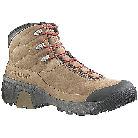 Camp and Hike Free Shipping. Patagonia Men's P26 High Boot DECENT FEATURES of the Patagonia Men's P26 High Boot 1.8/2.0mm top grain waterproof leather for durability and comfort 100% polyester mesh lining and collar for fast drying and breathability 15% recycled EVA dual density foot bed provides comfort; supports and stabilizes the foot Patagonia Air Cushion Plus for shock absorption; TPU Arch Shank for support and protection Deep Dish Helium Light EVA (25% lighter than normal EVA) foot frame extends high in the rear to cradle the foot for support, heel hold and stability; optimizes energy transfer 1.8mm harder EVA shock plate distributes pressure and protects while maintaining forefoot flex Vibram P26 sole features Ecostep+ 50% recycled and TC5+ rubbers for optimal stability, durability and traction Last characteristics: semi-curved last, medium width, medium arch support The SPECS Weight: 1 lb 2.2 oz (1/2 pair size 9) Better leather Medium Support /flex Eco Step - $199.95