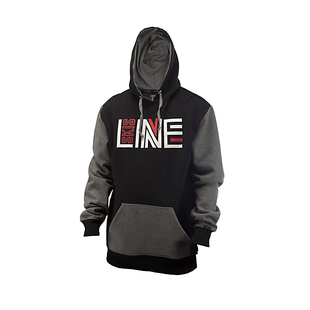 Ski Line Stance Pullover Hoodie - The Line Classic Stance Hoody with a kangaroo pouch pocket is the steezy way to rep your favorite ski brand. . Insulation Weight: None, Hood Type: Fixed, Material: Natural Fibers, Fleece Weight: None, Category: Light-Weight, Hood: Yes, Warranty: One Year, Battery Heated: No, Closure Type: Pull Over, Wind Protection: No, Type: Hoodies, Material: Cotton, Pockets: 1-2, Wicking Properties: No, Sleeve Type: Long Sleeve, Water Resistant: No, Model Year: 2013, Product ID: 273679, Shipping Restriction: This item is not available for shipment outside of the United States., Model Number: A1201005BKM, GTIN: 0714636948178 - $54.95