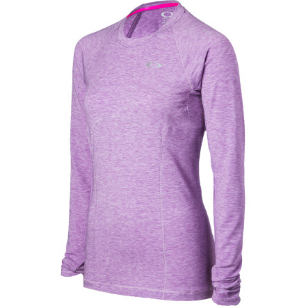 Fitness From dynamic stretches to easy cool-down, the Oakley Women's Warm It Up Shirt performs for you at every stage of your daily run. Supremely soft, comfortable, and versatile, this stretchy top wants to get out on the trail every bit as much as you do. - $58.00