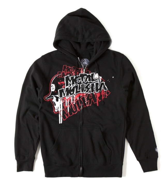Motorsports Metal Mulisha Pullover Fleece Hoodie.  80% Cotton / 20% Poly fleece with front; back and sleeve screen. - $33.99