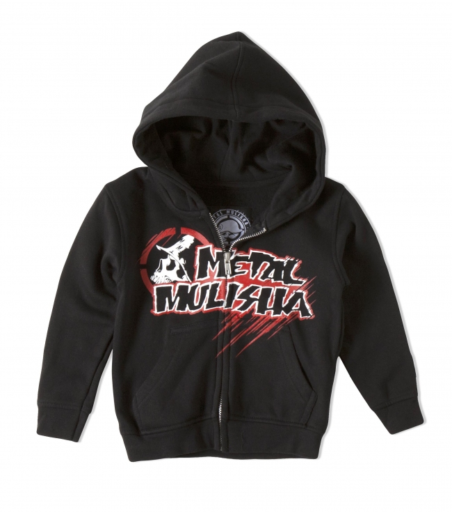 Motorsports Metal Mulisha Toddlers Zip Hoodie.  Cotton / Poly.  Screenprint. - $27.99