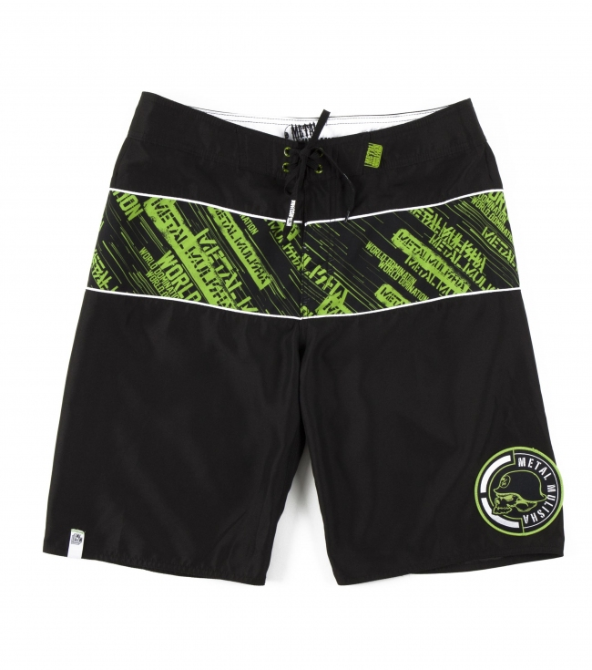 "Motorsports Metal Mulisha Mens Boardshorts.  100% Poly Anti-moss.  23"" outseam with comfort fly closure; pocket flap with internal pocket; PVC rubber label; logo eyelets and drawcord; logo patch and clip label. - $31.99"