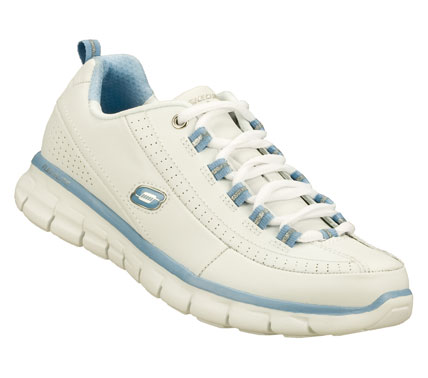Fitness Treat your feet like celebrities with the SKECHERS Synergy - Elite Status shoes.  Smooth leather upper in a lace up athletic walking and training sneaker with stitching; overlay and perforation detail.  Memory Foam insole. - $65.00