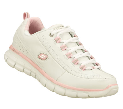 Treat your feet like celebrities with the SKECHERS Synergy - Elite Status shoes.  Smooth leather upper in a lace up athletic walking and training sneaker with stitching; overlay and perforation detail.  Memory Foam insole. - $65.00