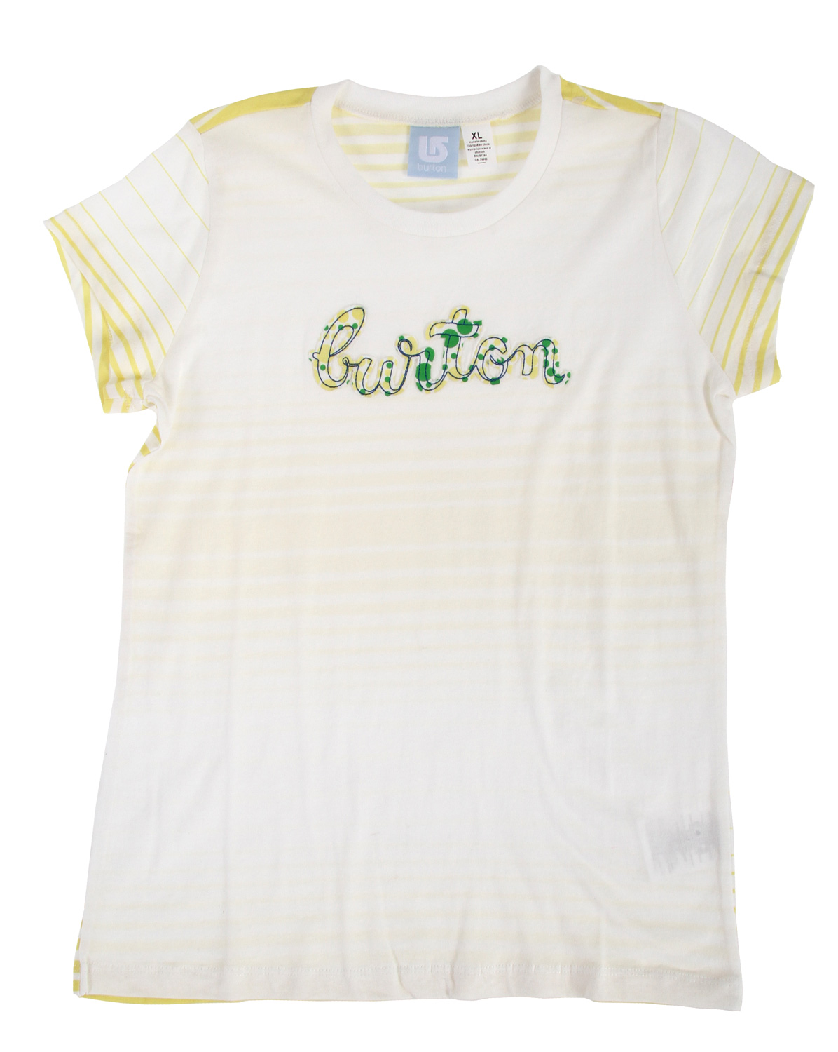 Snowboard Key Features of The Burton Peppermint T-Shirt: Regular Fit Crew Neck Short Sleeve - $6.96
