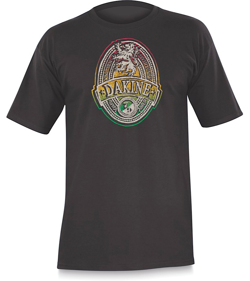 Surf If you want to be king of the skate park or rule the school, then you need dress the part. The Dakine Rasta Lion T-shirt is just what you need to get the job done. This 100% cotton shirt will get you noticed and let everyone around you know that you're bold and ready to step forward as a leader and not a follower. You'll be comfortable enough so you won't have to fight your clothing as you go about your day and it's durable enough that you'll look calm, cool and collected no matter what challenges are ahead.  100% Cotton - $12.95