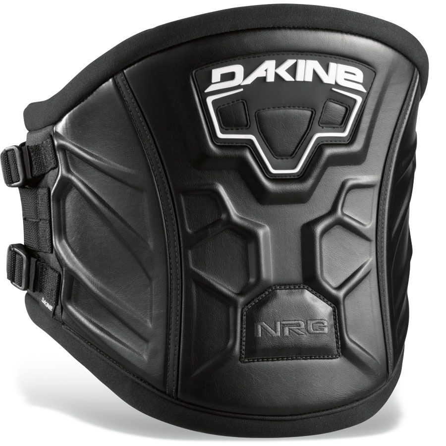 "Wake The NRG is a new breed of Dakine harnesses inspired by the shape of your back. The pre-curved inner structure hugs your body to provide maximum comfort and support. The top and bottom are soft and comfortable eliminating hot spots.Key Features of the Dakine Nrg Windsurf Harness: Power Clip Lock buckle system Stainless steel spreader bar Pre-Curved P.E.B. inner support structure Featherweight ES foam molded lumbar pad Wide top to bottom coverage Independent primary and secondary power belt Sliding Bar Kit compatible XS= 28-30"" [ 71-76cm ] SB= 6"" [ 15cm ] S= 30-32"" [ 76-81cm ] SB= 10"" [ 25cm ] M= 32-34"" [ 81-86cm ] SB= 10"" [ 25cm ] L= 34-36"" [ 86-91cm ] SB= 10"" [ 25cm ] XL= 36-38"" [ 91-96cm ] SB= 12"" [ 30cm ] - $118.95"