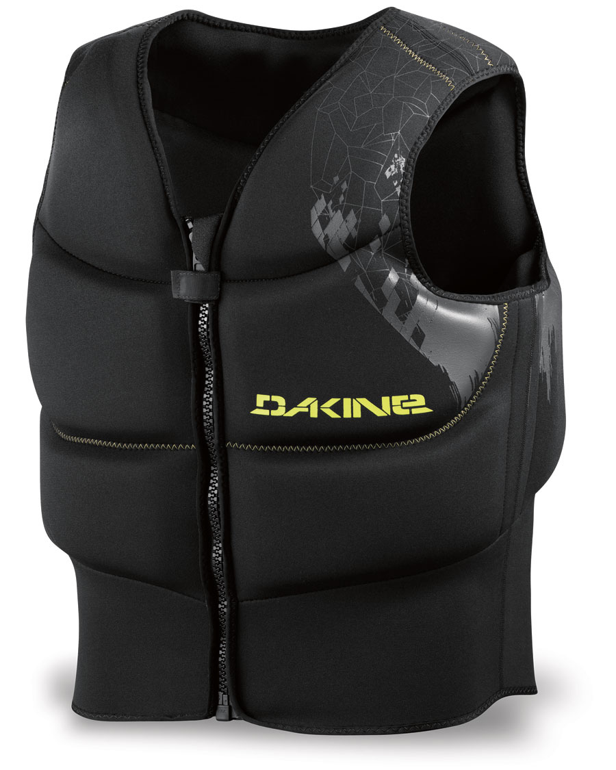 "Wake The Surface Vest has a generous amount of padding in a flexible waist or seat harness compatible vest.Key Features of the Dakine Surface Windsurf Vest: 1 1/4"" [ 3cm ] Closed cell foam Waist and seat harness compatible Super stretch design for freedom of movement Zippered front for easy on/off Dual sport design XS= Waist 28-30"" [ 71-76cm ] Chest 33-35"" [ 84-89cm ] S= Waist 30-32"" [ 76-81cm ] Chest 35-37"" [ 89-94cm ] M= Waist 32-34"" [ 81-86cm ] Chest 37-39"" [ 94-99cm ] L= Waist 34-36"" [ 86-91cm ] Chest 39-41"" [ 99-104cm ] XL= Waist 36-38"" [ 91-96cm ] Chest 41-43"" [ 104-109cm ] XXL= Waist 40-42"" [ 96-101cm ] Chest 43-45"" [ 109-114cm ] - $97.95"