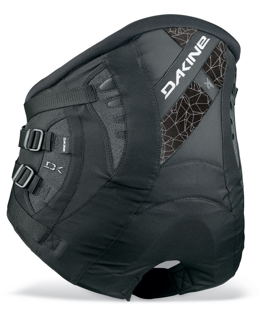 "Wake The ultimate in lower back support, without sacrificing the comfort. The go to seat harness for racing or just cruising.Key Features of the Dakine Xt Seat Windsurf Harness:  Power Clip Lock buckle system  Stainless steel spreader bar  Featherweight ES foam molded lumbar pad  Independent primary and secondary Power Belt  Adjustable spreader bar height  8-Point load dispersion system  Ultra comfortable, self-tensioning neoprene leg cinch straps  Internal batten support  Load equalizer patches  Sliding Bar Kit compatible  XS= 28-30"" [ 71-76cm ] SB= 6"" [ 15cm ]   S= 30-32"" [ 76-81cm ] SB= 10"" [ 25cm ]   M= 32-34"" [ 81-86cm ] SB= 10"" [ 25cm ]   L= 34-36"" [ 86-91cm ] SB= 10"" [ 25cm ]   XL= 36-38"" [ 91-96cm ] SB= 12"" [ 30cm ] - $97.95"