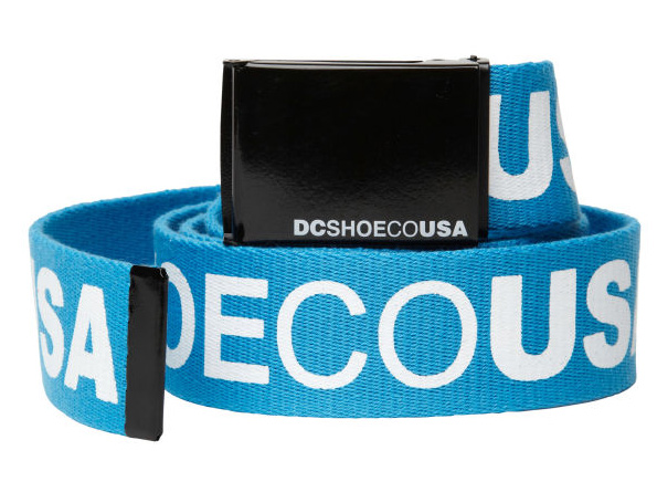 Skateboard Key Features of the DC Chinook 5 Belt: One Size Reversible scout belt Large DC script print Metal buckle with screen printed script branding 100% Polyester - $15.00