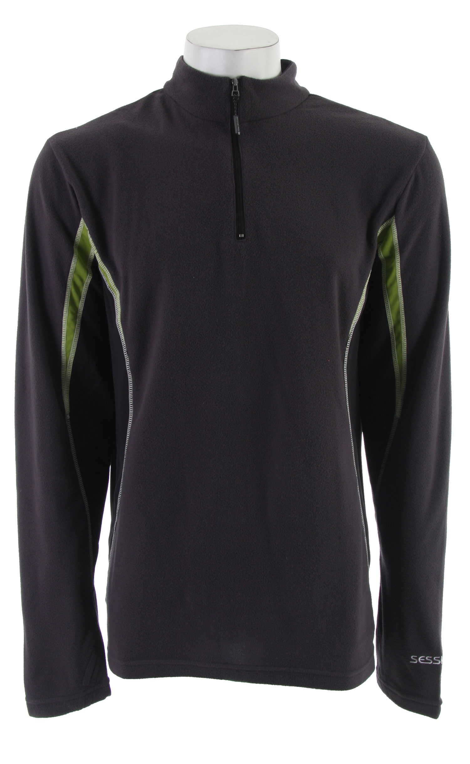Entertainment Key Features of the Sessions Thermatic 1/4 Zip Mock Shirt: Butter Fleece/li> - $33.56