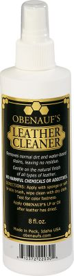 Entertainment Clean and rejuvenate your leather items with this safe, all-natural, easy- to-use, nontoxic and biodegradable cleaner. Extensive field testing has proven that Obenauf's Leather Cleaner increases the service life and enhances the appearance of leather products such as boots, jackets, belts, purses, wallets, riding tack and vehicle leather. Made of plant-derived cleaning agents using protein- and starch-based stain removers. No harsh chemicals or chlorine bleach. Made in USASize: 8-fl. oz. - $4.88