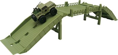 Encourage your Army-loving childs imagination with Defiants BlitzForce Operation Bridge Blitz playset. Set the four-piece, 2-ft. bridge up over rocks, cracks in the sidewalk, sandbox, imaginary mine fields and streams, and more. The included special-edition powered 4x4 vehicle can drive up the bridges ramp and over to safety on the other side. Vehicle requires two AAA batteries (not included). Type: Play Sets. - $6.88