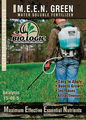 Hunting Mossy Oak BioLogic M.E.E.N. Green Plot Fertilizer contains water-soluble phosphorous that stimulates root development and increases plant growth. Healthier root systems allow plants to develop faster and more efficiently utilize soil moisture. M.E.E.N. Green Plot Fertilizer also provides plants with key micronutrients that are commonly unavailable in typical soils and ordinary fertilizers, making plants healthier, better tasting and noticeably more attractive. Added to your entire food plot or just a small area creates a sweet spot deer just cant resist. Size: 5-lb. bag. (one bag per acre for best results). Color: Green. - $24.99