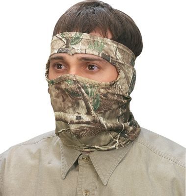 Hunting Complete your camouflaging system and remain comfortable throughout the season with our Camoskinz Masks. Not only does this line live up to the famous RealFeel name, it is also more breathable than before. The thin stretch knit fits just like a second skin and enables bowhunters to feel their anchor point for dead-on accuracy. Fabric wicks moisture and has antimicrobial treatment to help keep it fresher. One size fits most. Imported. Camo patterns: Mossy Oak Break-Up Infinity , Realtree AP . - $12.99