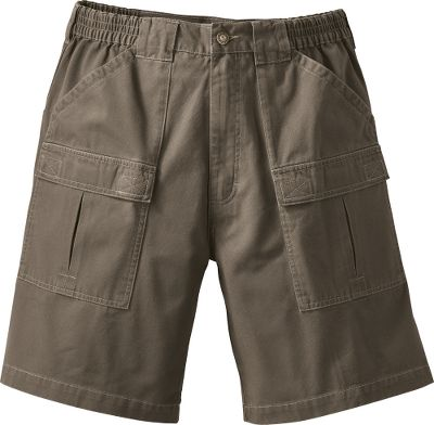 Camp and Hike Hit the trail in Cabelas functional and comfortable Contrast 9 Trail Shorts. Crafted with a hiker fit and wide leg openings for ease of mobility and freedom of movement. Pre-washed 100% cotton construction for a soft hand and weathered look. Elastic waistband sides ensure a proper fit. Reinforced seat prevents wear and tear. Front slash and cargo pockets secure your hiking essentials. Rear slash pockets with hook-and-loop closures.Inseam: 9.Even waist sizes: 32-44.Colors: Charcoal, Khaki, Dark Khaki, Light Olive. Waist: 42. Type: Shorts. Size: 42. Inseam: DARK KHAKI. Size 42. Color Dark Khaki. - $17.88