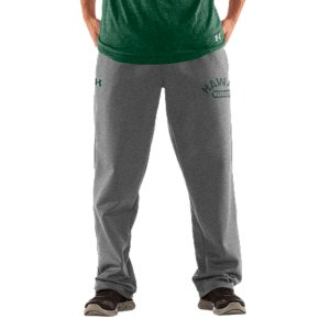 "Fitness We're not telling you to retire your old college sweatpants, but they better to get used to taking gamedays off. Our new-school UH pants keep that vintage style and old-school, worn-in feel. Then boost the performance to work as hard as those uniforms you see on the field. Graduate to gear worthy of a real Warriors fan. UA Storm gear uses a Durable Water Repellent (DWR) finish, which repels water without sacrificing breathabilityLightweight Charged Cotton(R) adds quick-dry performance to the soft comfort of cottonSturdy 300g cotton-blend fleece has a hard-faced outer and a soft, brushed inner to trap warmthSignature Moisture Transport System wicks sweat away from the bodyDurable ribbed waistband with front drawcordWarm hand pockets32"" inseamSoft screen print vintage graphics Raw edging adds an old-school feelCotton/PolyesterImported - $59.99"
